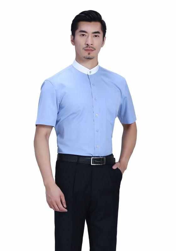 衬衫湖蓝男